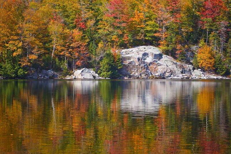 Little Rock Pond reflects Autumn colors