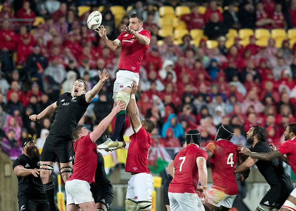 Sam Warburton (c)  during game 9 of the British and Irish Lions 2017 Tour of New Zealand, the second Test match between  The All Blacks and British and Irish Lions, Westpac Stadium, Wellington, Saturday 1st July 2017 (Photo by Kevin Booth Steve Haag Sports)  Images for social media must have consent from Steve Haag