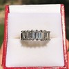 2.35ctw 7-Stone Step Cut Diamond Band 10