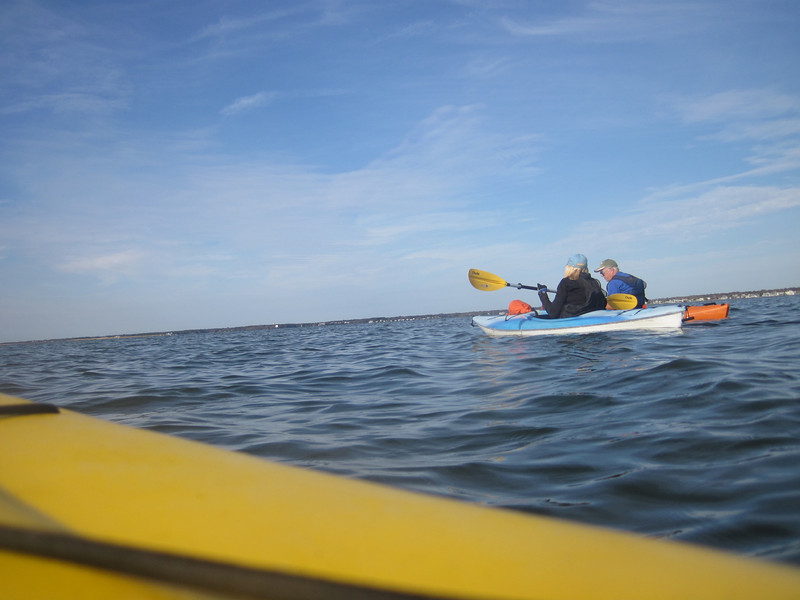 Kayaking off Tiana.