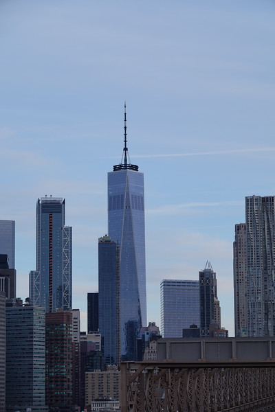 Freedom Tower from Brooklyn Bridge.