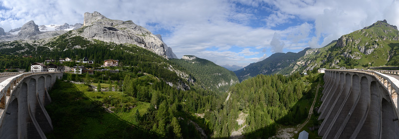 View from the Fedaia Lake Dam - Canazei, Trento, Italy - August 13, 2013