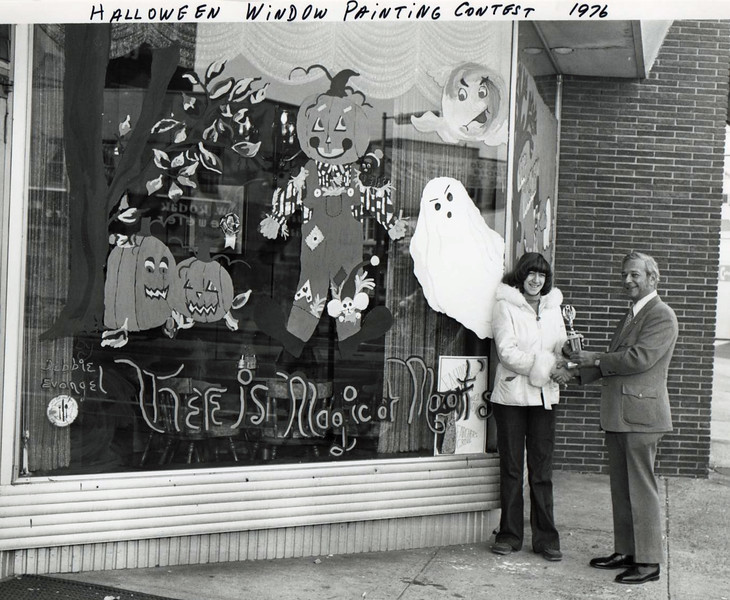 Halloween Window Painting Contest Union Center 1976