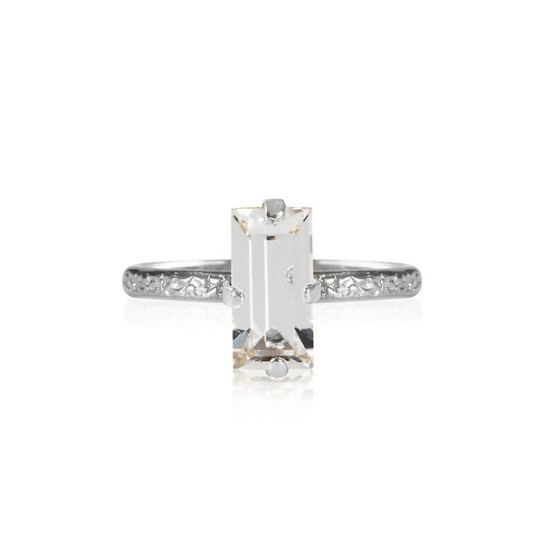 Baguette Ring / Crystal Rhodium