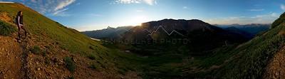 Christine Labadie at First Light on Cinnamon Mountain, Elk Range, CO