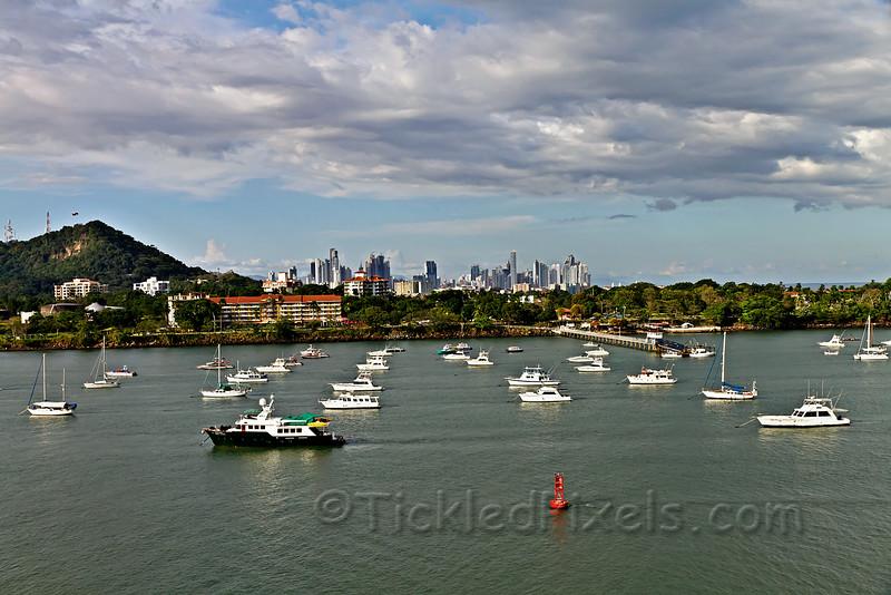 Balboa Yacht Club and Panama City
