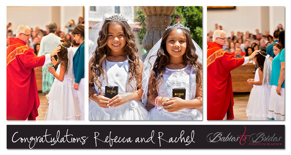 Rebecca & Rachel 1st Communion