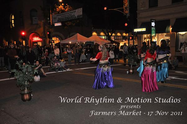 World Rhythm & Motions Studios Farmers Market - Nov 2011