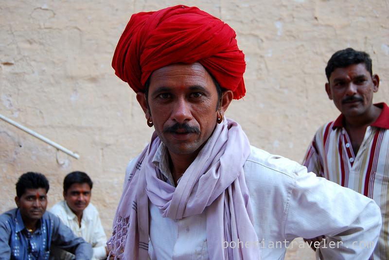 Rajasthani man visiting Mehrangarh Fort in Jodhpur.jpg