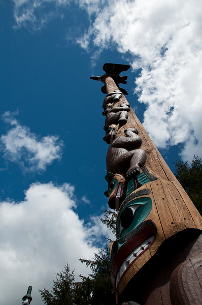 Saxman Native VillageTotem Pole Park outside of Ketchikan.  Some are more than 100 years old and were moved here from various villages.