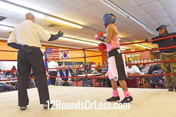 Bout 7 Jibreel Hawkins, Akron, Blue Gloves -vs- Michael Withrow, Pittsburgh, Red Gloves, 123 Lbs.