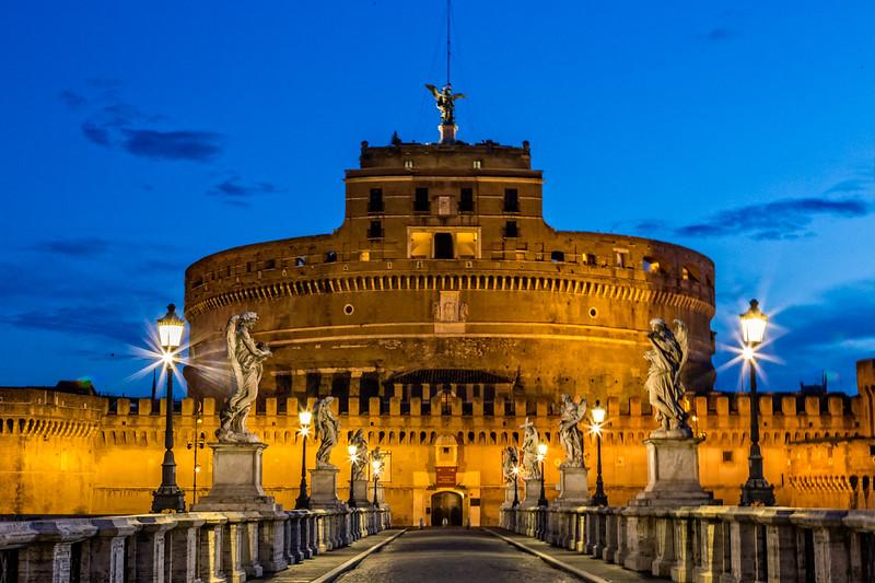st angelos castle at dusk
