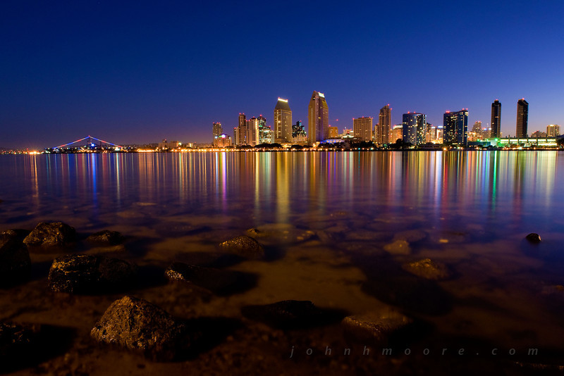 San Diego pre-dawn skyline