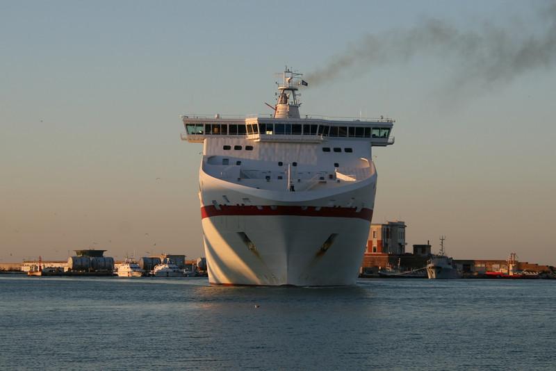 CRUISE OLYMPIA arriving to Ancona from Patra - Igoumenitsa.