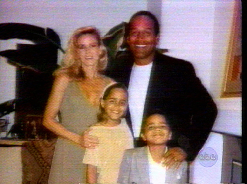 . This is an undated photo from a video showing O.J. Simpson with his wife Nicole Brown Simpson and their children Sydney and Justin. (AP Photo/ABC)