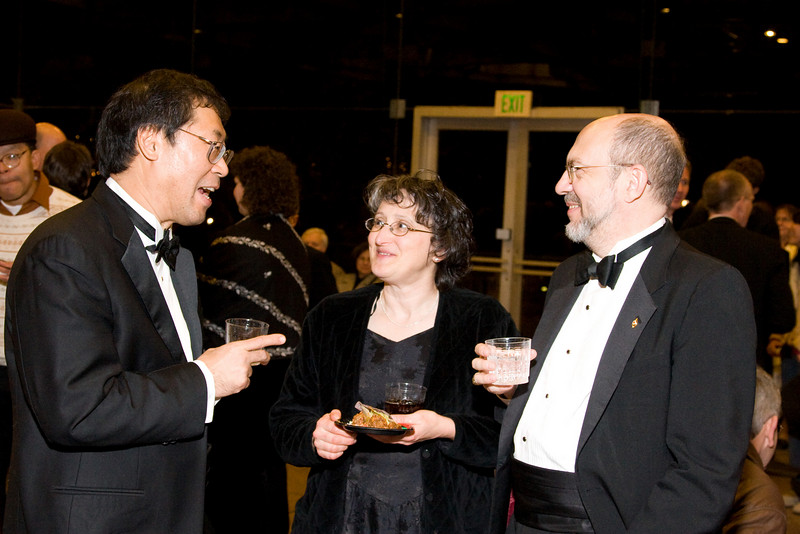 Keith Kaneda, Mary & Steve Haaser -- HSO 25th anniversary post-concert Gala