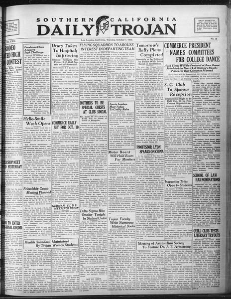 Daily Trojan, Vol. 22, No. 18, October 07, 1930