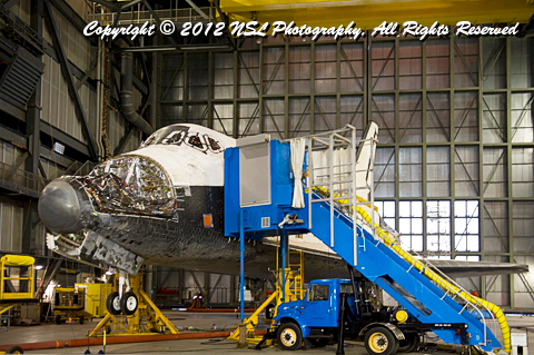 Space Shuttle Atlantis being prepared in the VAB at the Kennedy Space Center, Florida, by Ned Levi/NSL Photography, http://www.nslphotography.com