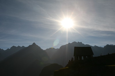 MACHU PICCHU, CUSCO, PERU - DiscoveryBound's 2014J NLC class visiting this historic Incan site.