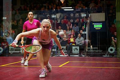 2012 U.S. Open Women's Semifinal: Raneem El Weleily (Egypt) defeated Laura Massaro (England)