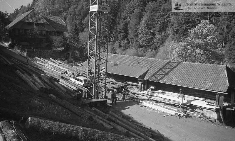 Alberswil/Gondiswil Sägerei Niffenegger Okt 84