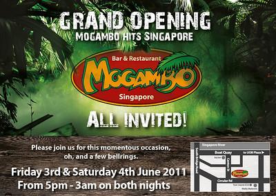 Mogambo Bar & Restaurant Singapore Opening