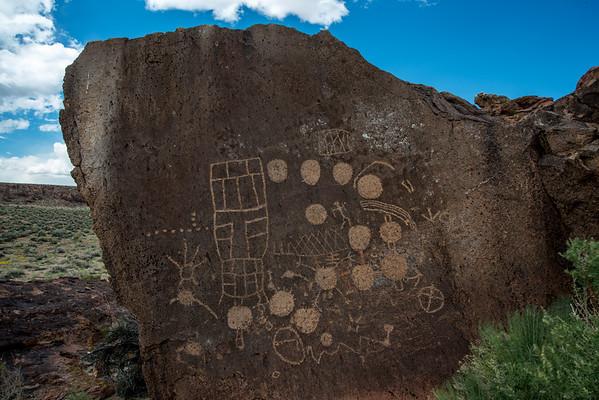 13 Moons and Sky rock petroglyphs