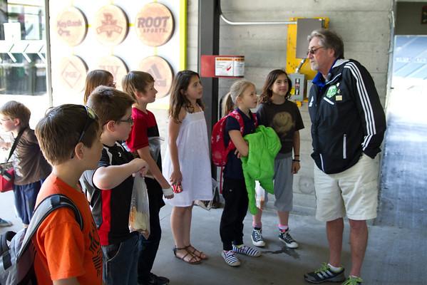 Elementary School JeldWen Field Tour