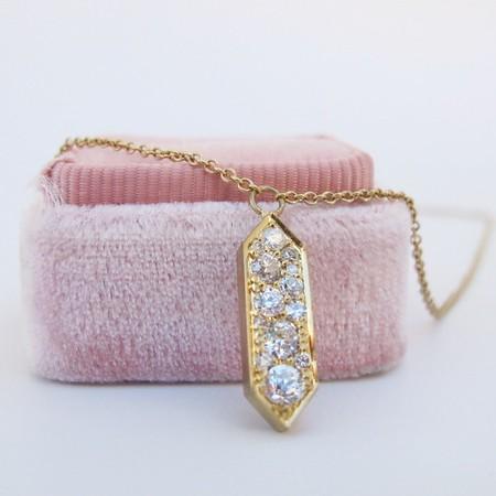 .51ctw Mixed Antique Cut Diamond Vertical Pendant