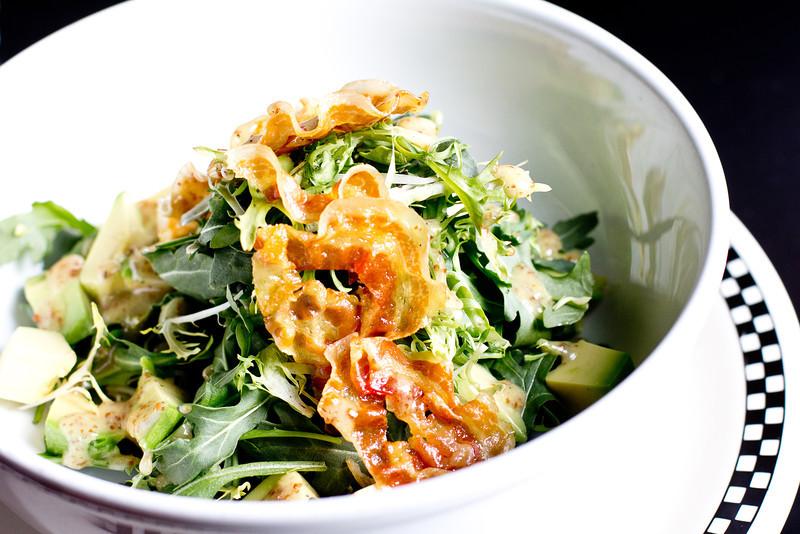 School Breakfast Salad Avocado, Crispy Pancetta, Frisee & Arugula in Lemon Pepper Vinaigrette.jpg
