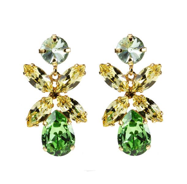 Dione Earrings / Chrysolite, Jonquil + Peridot