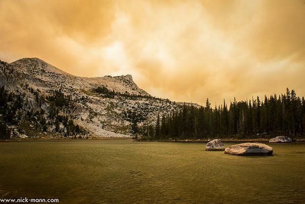 Yosemite forest fire, September 2014