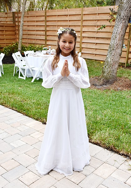 Faustina's 1st Communion