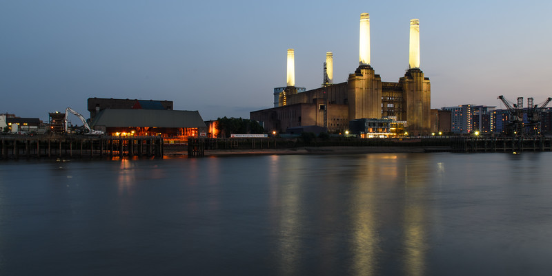 Battersea Power Station on the River Thames