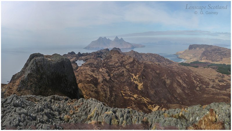 Isle of Rhum from An Sgurr, Isle of Eigg
