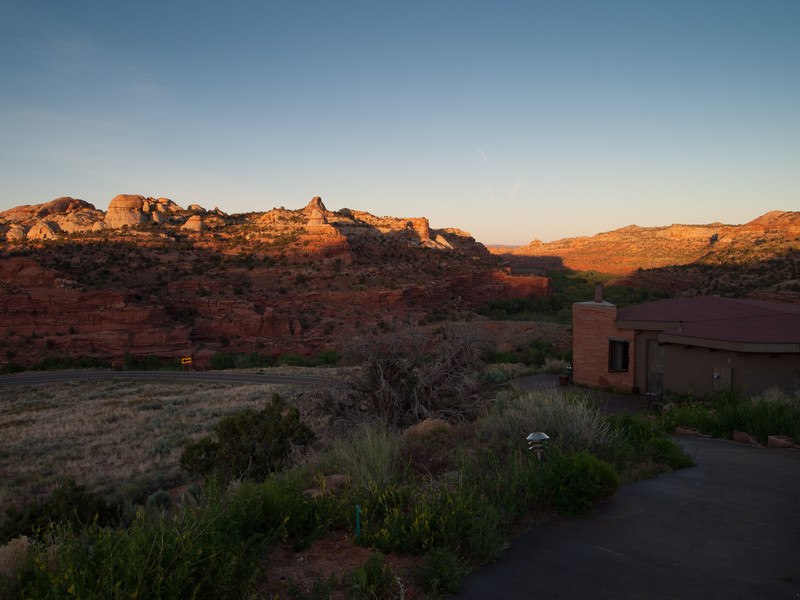 The end of the day at Kiva Kottage