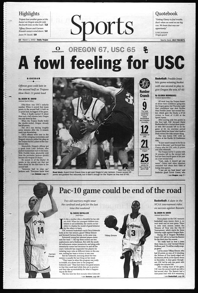 Daily Trojan, Vol. 145, No. 35, March 01, 2002