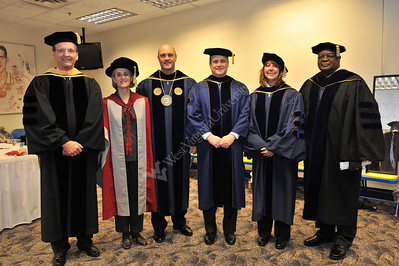 27287 President Clements and platform party December Convocation 2010