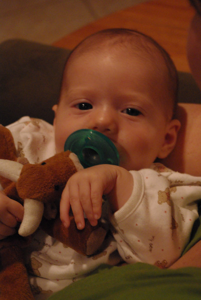 Isabel Holding Her Binky