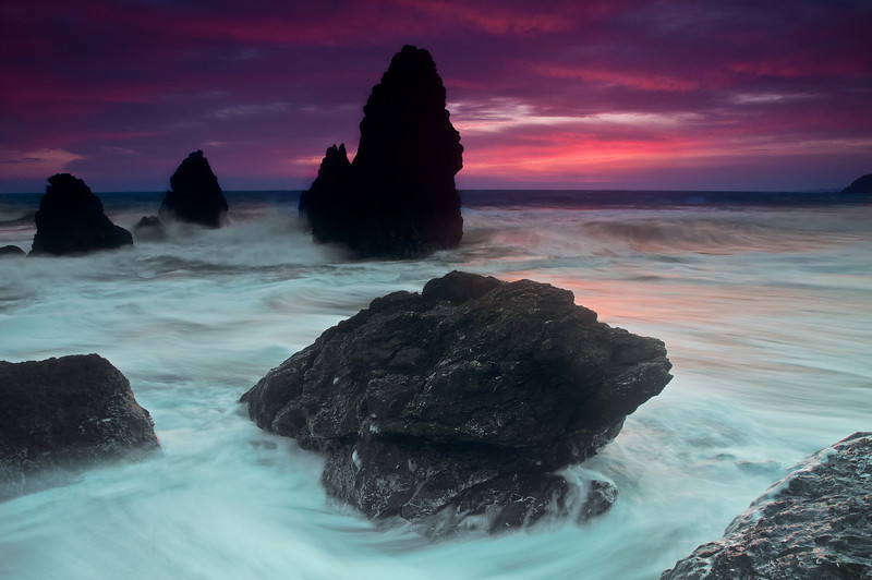Another take on the Rodeo Beach photo. I don't like this one as much but I did like the almost floor-like water in this longer exposure.  Nikon D300s w/Nikkor 17-35mm f/2.8 ED-IF AF-S: 17mm, f/5.6, 1 sec, ISO 400, Tripod B+W F-Pro Circular Polarizer + Hitech 0.9 soft Reverse ND grad filter, Hitech 0.6 soft ND grad filter, and Lee FK Filter holder