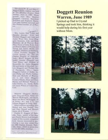 1989 Doggett Family Reunion