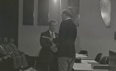 Mayor Hudnut Presents IPD Awards at City-County Council Chamber, Circa 1977, Img. 12