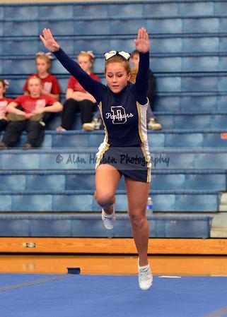 Cheer at Mason Feb 4 - Dewitt varsity - Round 3