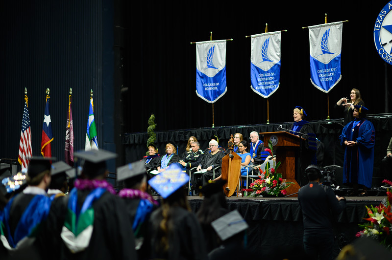 Texas A&M University-Corpus Christi hosted its Fall 2019 commencement ceremonies on Saturday, Dec. 14, at the American Bank Center.