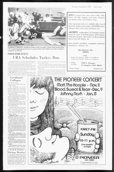 Daily Trojan, Vol. 66, No. 36, November 08, 1973