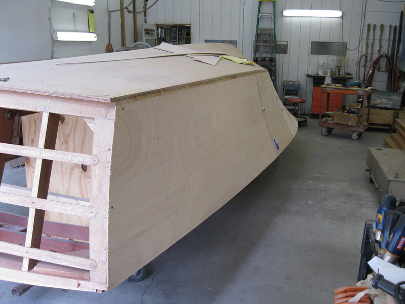 Rear port view of the plywood fit.