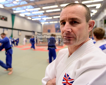 2013 Tonbridge Judo Training Camp 131220A5492: Former Commonwealth champion and organiser of the Training Camp, Carl Finney 48, at the Tonbridge I....