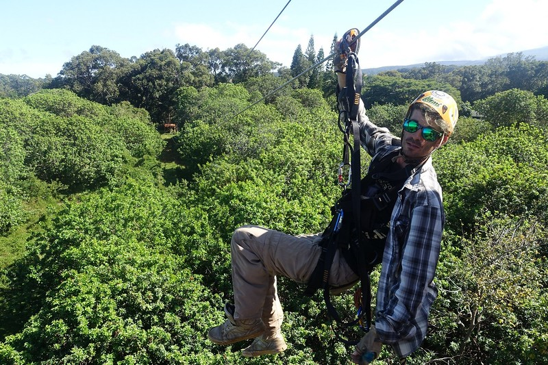 Ziplining over maui's treetops