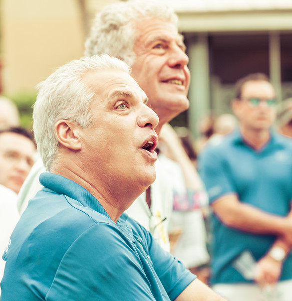 Anthony Bourdain And Eric Ripert Playing Petanque