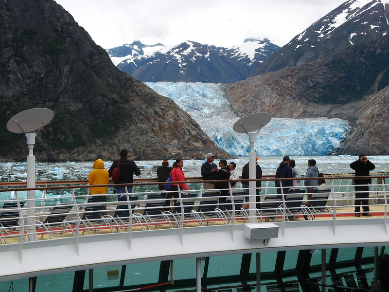 A glacier in Tracy Arm